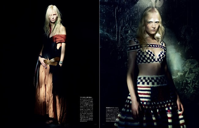 VOGUE JAPAN Maja Salamon, Ola Rudnicka & Sasha Luss in A Mystical Season by Paolo Roversi. Nicoletta Santoro, March 2014, www.imageamplified.com, Image Amplified (2)