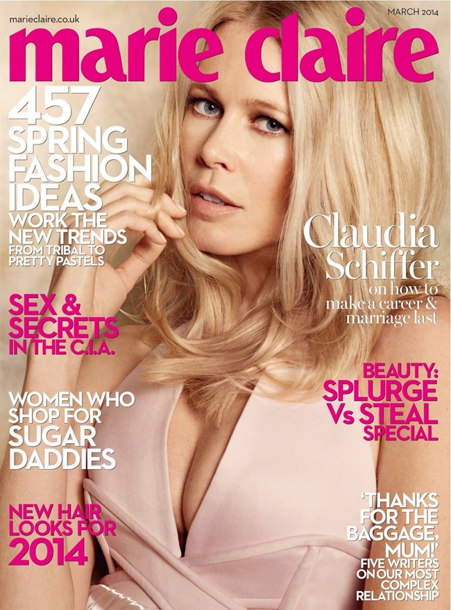 MARIE CLAIRE UK Claudia Schiffer in I, Claudia by DAvid Roemer. Tiffany Fraser, March 2014, www.imageamplified.com, Image amplified (1)