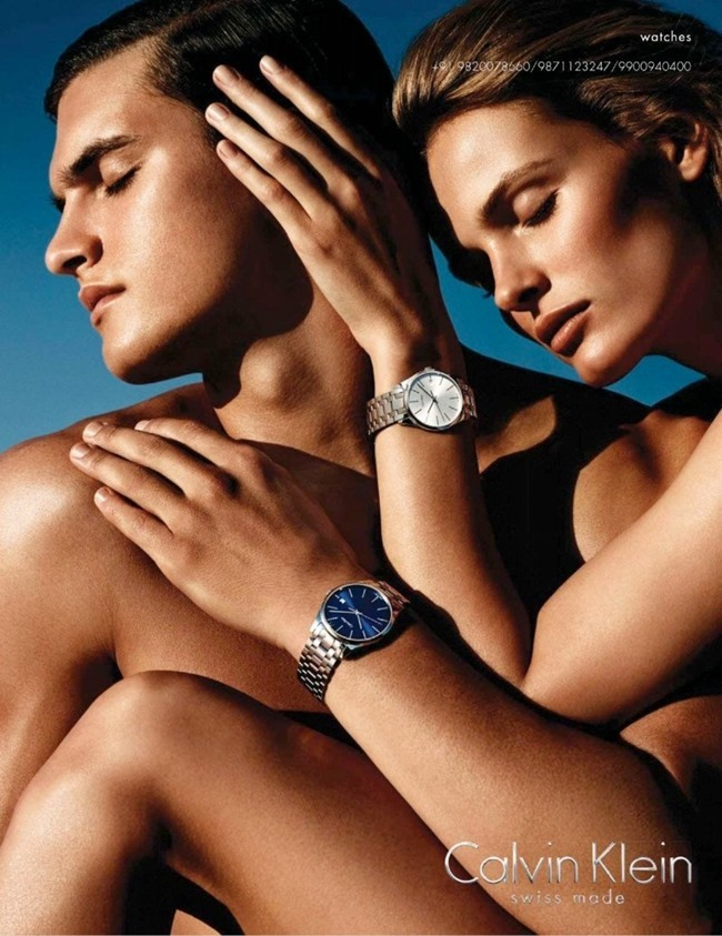 CAMPAIGNEdita Vilkeviciute & Matthew Terry for Calvin Klein Watches Spring 2014 by Mario Sorrenti. www.imageamplified.com, Image Amplified (4)