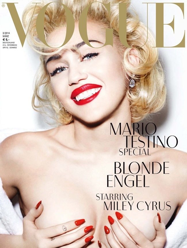 VOGUE GERMANY Miley Cyrus by Mario Testino. Carlyne Cerf de Dudzeele, March 2014, www.imageamplified.com, Image amplified (2)