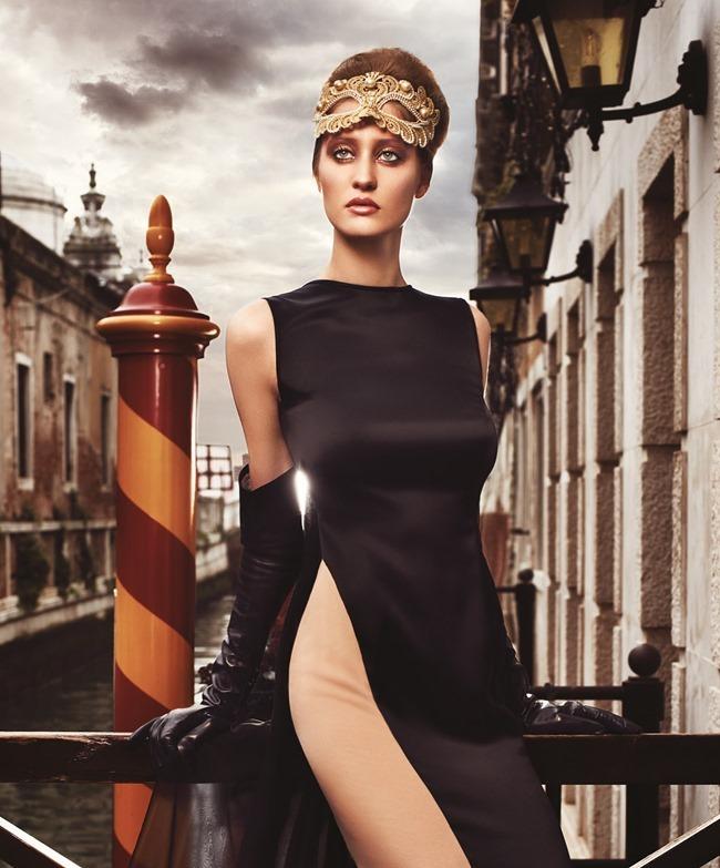 FASHION & BEAUTY MILAN Enya Bakunova in Duchess For A Night by Lior Susana. Marina Bugranova, Barbara Centazzo, Spring 2014, www.imageamplified.com, Image Amplified (3)