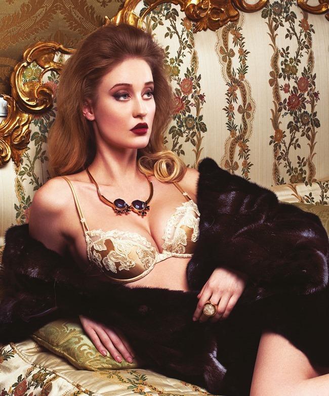 FASHION & BEAUTY MILAN Enya Bakunova in Duchess For A Night by Lior Susana. Marina Bugranova, Barbara Centazzo, Spring 2014, www.imageamplified.com, Image Amplified (5)