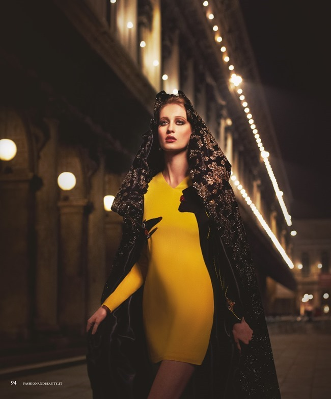 FASHION & BEAUTY MILAN Enya Bakunova in Duchess For A Night by Lior Susana. Marina Bugranova, Barbara Centazzo, Spring 2014, www.imageamplified.com, Image Amplified (8)