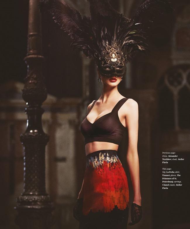 FASHION & BEAUTY MILAN Enya Bakunova in Duchess For A Night by Lior Susana. Marina Bugranova, Barbara Centazzo, Spring 2014, www.imageamplified.com, Image Amplified (9)