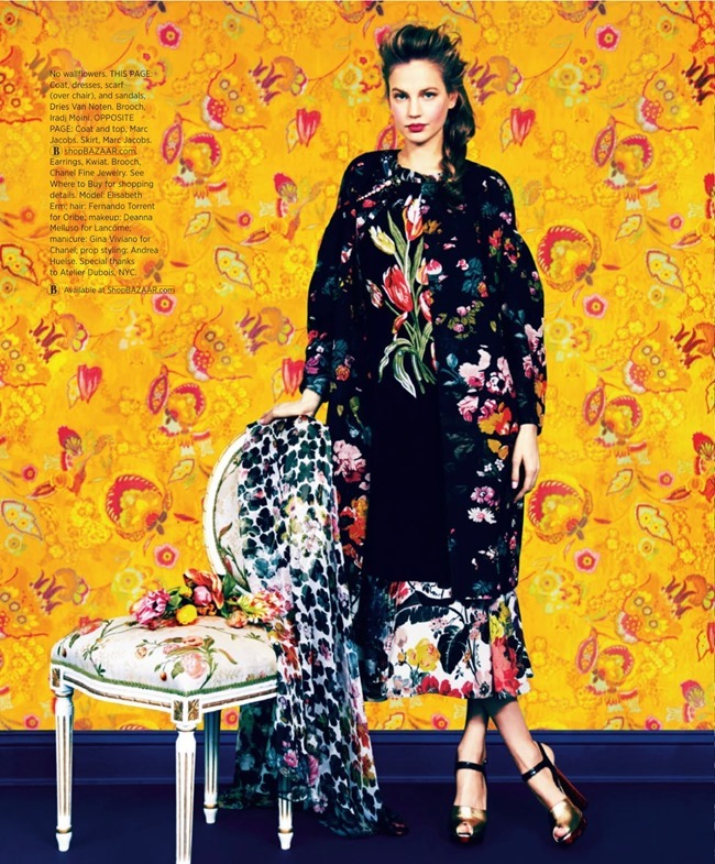 HARPER'S BAZAAR MAGAZINE Elisabeth Erm in Prints Of The Season by Erik Madigan Heck. Joanna Hillman, March 2014, www.imageamplified.com, Image Amplified (5)