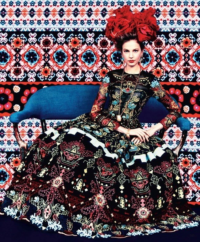 HARPER'S BAZAAR MAGAZINE Elisabeth Erm in Prints Of The Season by Erik Madigan Heck. Joanna Hillman, March 2014, www.imageamplified.com, Image Amplified (2)