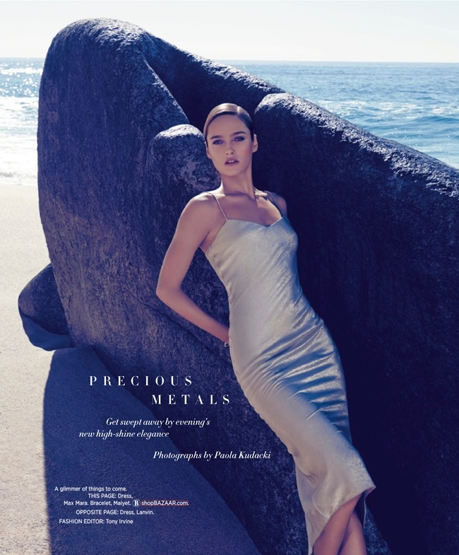 HARPER'S BAZAAR MAGAZINE Karmen Pedaru in Precious Metals by Paola Kudacki. Tony Irvine, March 2014, www.imageamplified.com, Image Amplified (1)