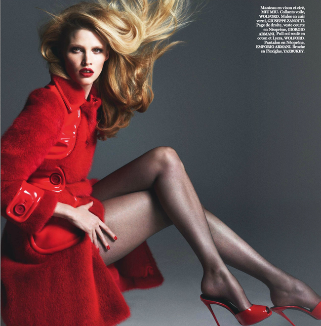 VOGUE PARIS Lara Stone, Anna Luisa Ewers & Amanda Wells in Fatale by Mert & Marcus. March 2014, www.imageamplified.com, Image amplified (6)