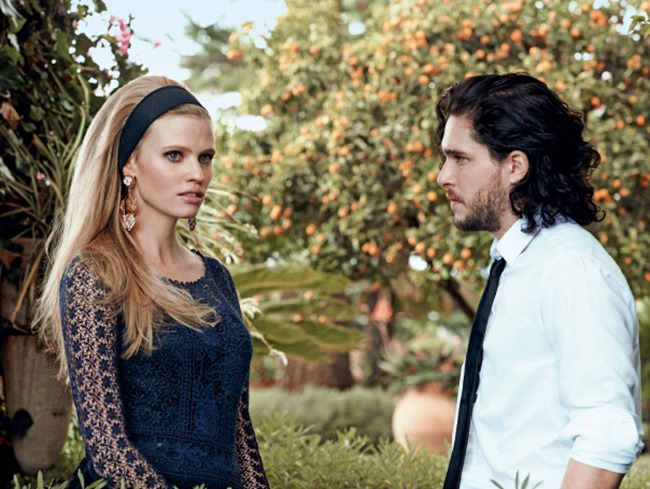 VOGUE MAGAZINE Lara Stone & Kit Harington in A Fine Romance by Peter Lindbergh. Tabitha Simmons, March 2014, www.imageamplified.com, Image Amplified (4)