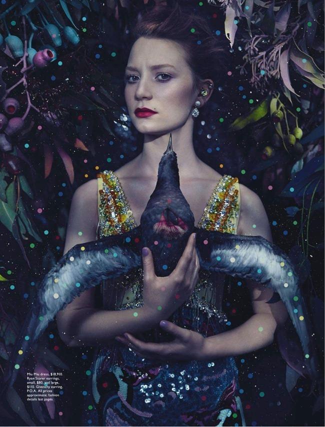 VOGUE AUSTRALIA Mia Wasikowska in The Magic oOf Mia by Emma Summerton. Jillian Davison, March 2014, www.imageamplified.com, Image Amplified (3)