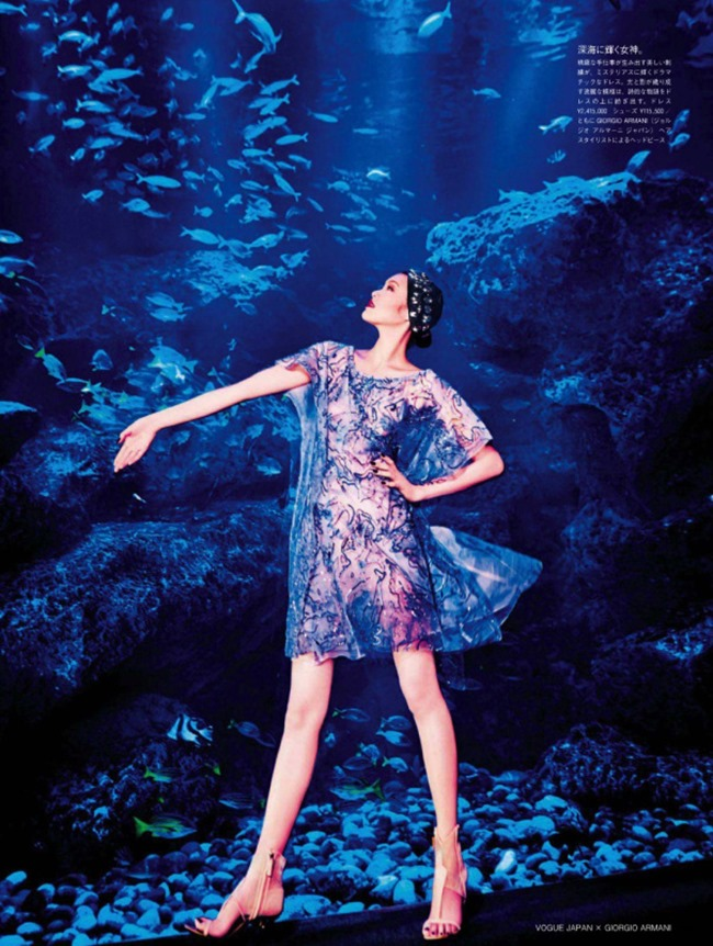 VOGUE JAPAN Chiharu Okunugi in Beauty From Beneath The Sea by Ellen von Unwerth. Elisabeth Sulcer, April 2014, www.imageamplified.com, Image Amplified (1)