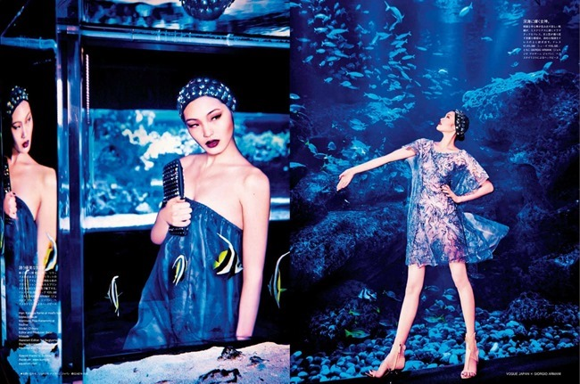 VOGUE JAPAN Chiharu Okunugi in Beauty From Beneath The Sea by Ellen von Unwerth. Elizabeth Sulcer, April 2014, www.imageamplified.com, Image Amplified (1)