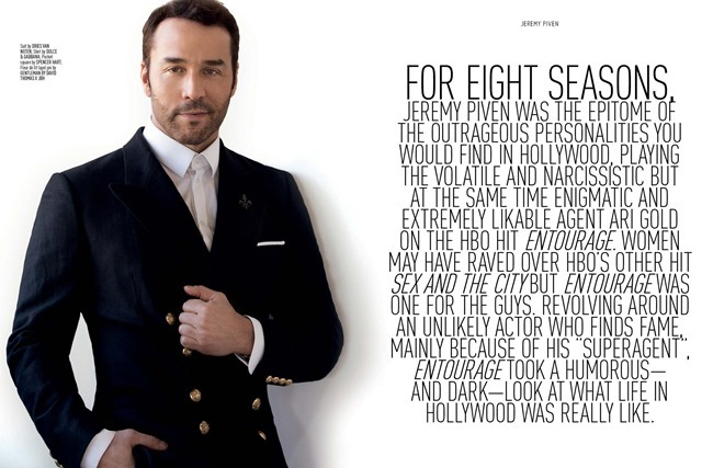 AUGUST MAN MAGAZINE Jeremy Piven in The Visceral Approach by Karl Simone. Dave Thomas, Spring 2014, www.imageamplified.com, Image Amplified (2)