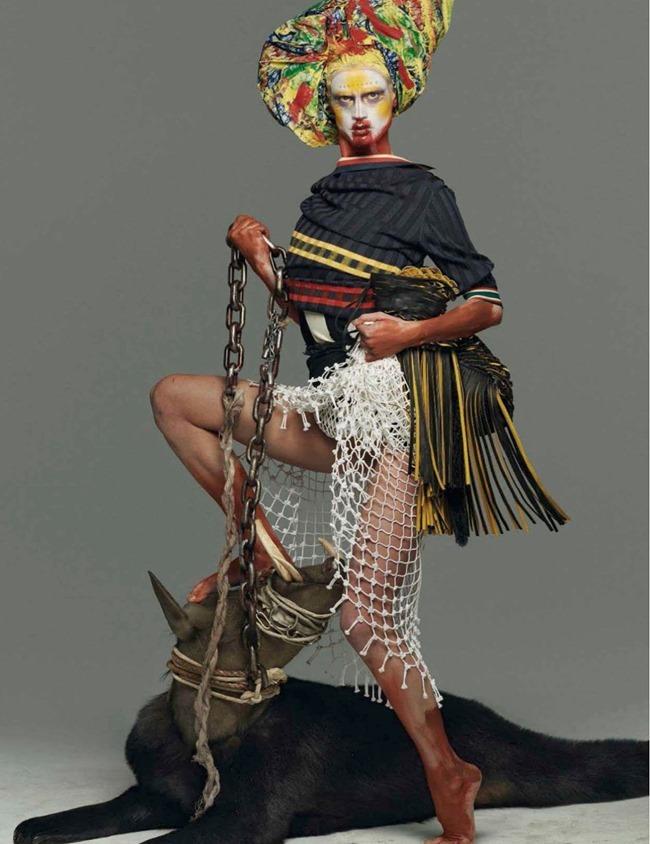VOGUE ITALIA Saskia De Brauw in Abracadabra by Steven Meisel. Marie-Amelie Sauve, March 2014, www.imageamplified.com, Image Amplified (5)