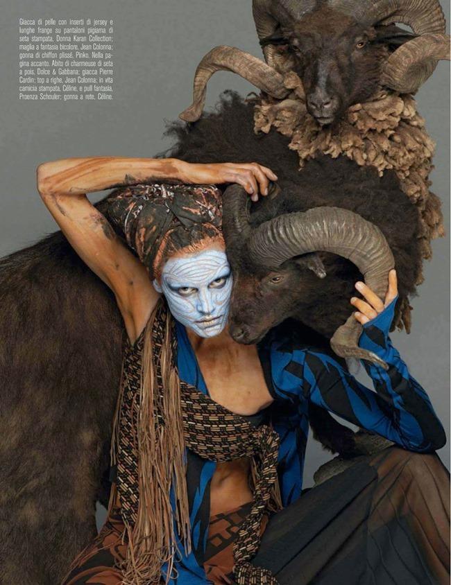 VOGUE ITALIA Saskia De Brauw in Abracadabra by Steven Meisel. Marie-Amelie Sauve, March 2014, www.imageamplified.com, Image Amplified (8)