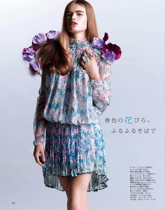 SPUR MAGAZINE Eva Klimkova & Ella Merryweather in Love Earth, Love Mode by Makoto Nakagawa. Miyuki Uesugi, April 2014, www.imageamplified.com, Image Amplified (2)