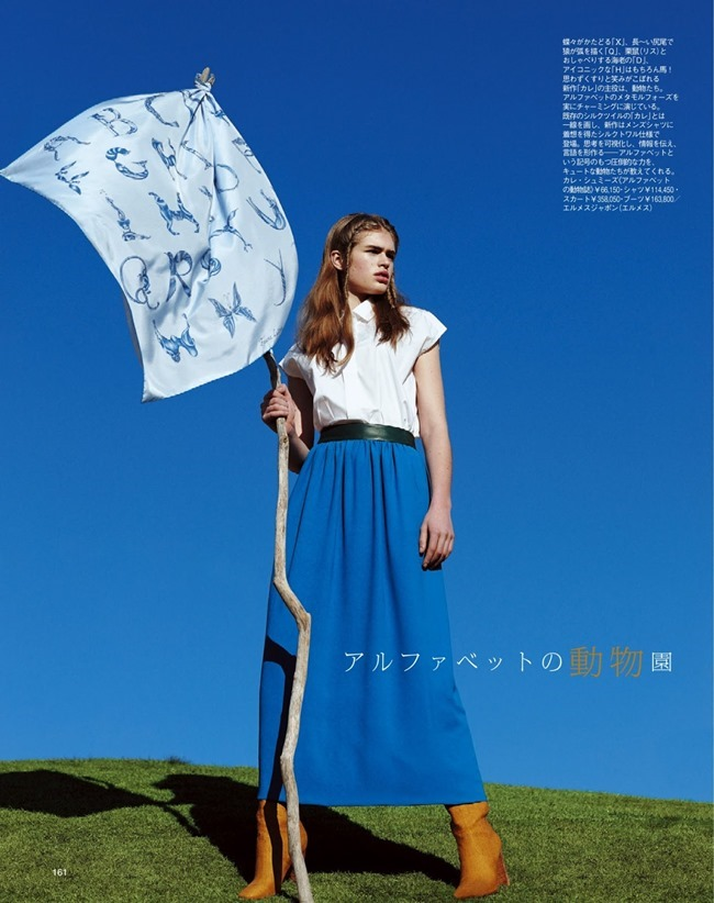 SPUR MAGAZINE Eva Klimkova & Ella Merryweather in Love Earth, Love Mode by Makoto Nakagawa. Miyuki Uesugi, April 2014, www.imageamplified.com, Image Amplified (6)