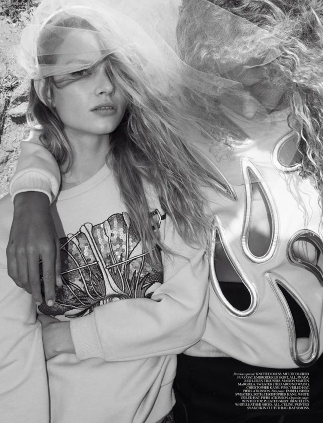 SELF SERVICE MAGAZINE Anna Ewers & Kirsty Hume in Anna Kirsty by Glen Luchford, Marie Chaix, Spring 2014, www.imageamplified.com, Image Amplified (2)