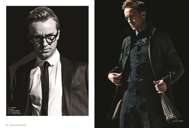 ESSENTIAL HOMME MAGAZINE Tom Felton in Golden Boy by Karl Simone. Sophie Assa, Spring 2014, www.imageamplified.com, Image Amplified (1)