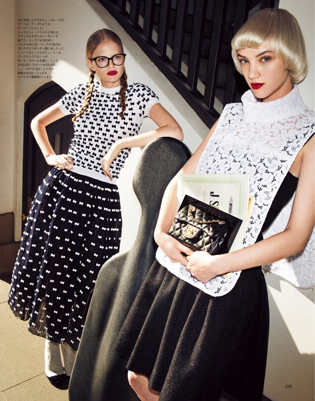 SPUR MAGAZINE Nathalia Oliveira & April Tiplady in Mode Lesson In Chanel by Tak Sugita. Natsuko Kaneko, April 2014, www.imageamplified.com, Image Amplified (4)