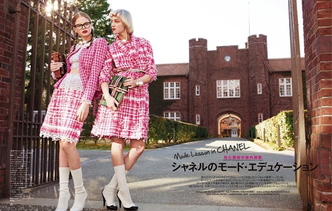 SPUR MAGAZINE Nathalia Oliveira & April Tiplady in Mode Lesson In Chanel by Tak Sugita. Natsuko Kaneko, April 2014, www.imageamplified.com, Image Amplified (1)