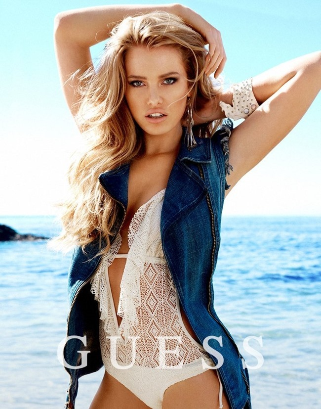 CAMPAIGN Samantha Hoopes Danielle Knudson Olivia Greenfield For Guess Spring 2014 By Yu Tsai