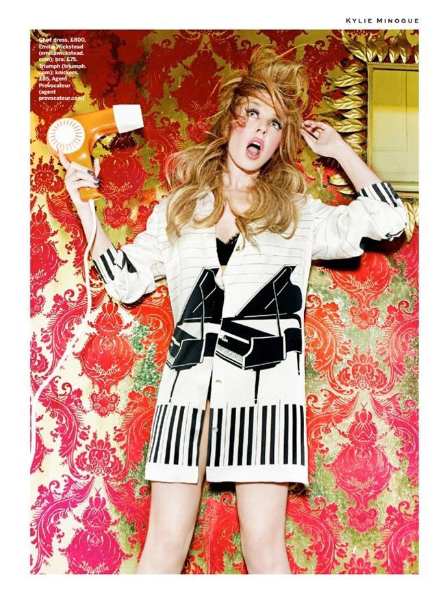 STYLIST MAGAZINE Kylie Minogue in Domestic Goddess by Ellen von Unwerth. Alexandra Fullerton, March 2014, www.imageamplified.com, Image Amplified (4)