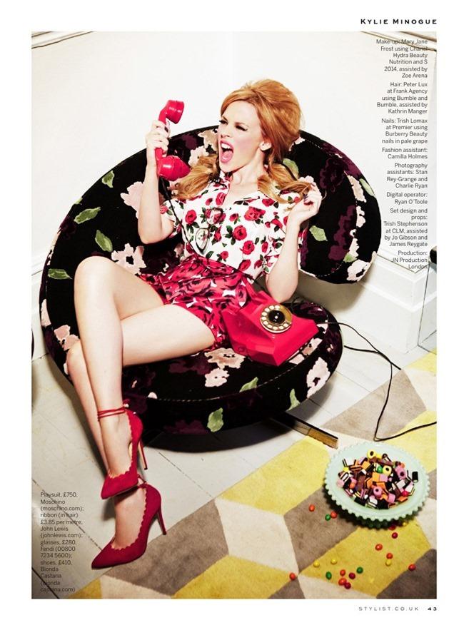 STYLIST MAGAZINE Kylie Minogue in Domestic Goddess by Ellen von Unwerth. Alexandra Fullerton, March 2014, www.imageamplified.com, Image Amplified (6)