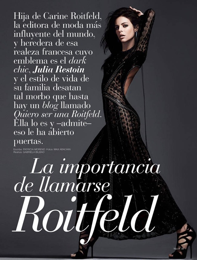 TELVA MAGAZINE Julia Restoin Roitfeld by Max Abadian. Gabriela Bilbao, April 2014, www.imageamplified.com, Image Amplified (2)