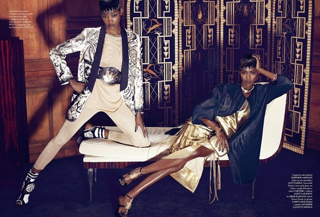 FLAIR MAGAZINE Betty Adewole & Alima Fofana in Fashion 1 by Paola Kudacki. Melanie Huynh, April 2014, www.imageamplified.com, Image amplified (3)