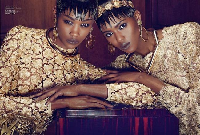 FLAIR MAGAZINE Betty Adewole & Alima Fofana in Fashion 1 by Paola Kudacki. Melanie Huynh, April 2014, www.imageamplified.com, Image amplified (4)