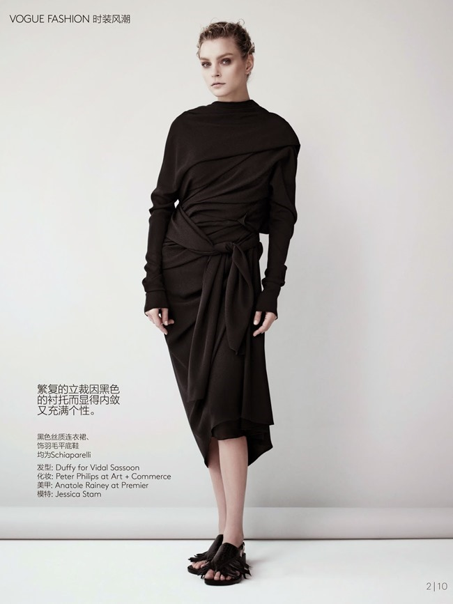 VOGUE CHINA COLLECTIONS Jessica Stam in Silent Rehersal by Willy Vanderperre. Marie Chaix, April 2014, www.imageamplified.com, Image Amplified (8)