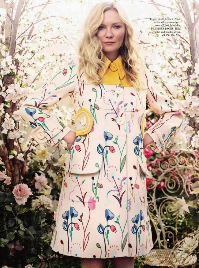 HARPER'S BAZAAR UK Kristen Dunst in American Beauty by David Slijper. Leith Clark. May 2014, www.imageamplified.com, Image Amplified (3)