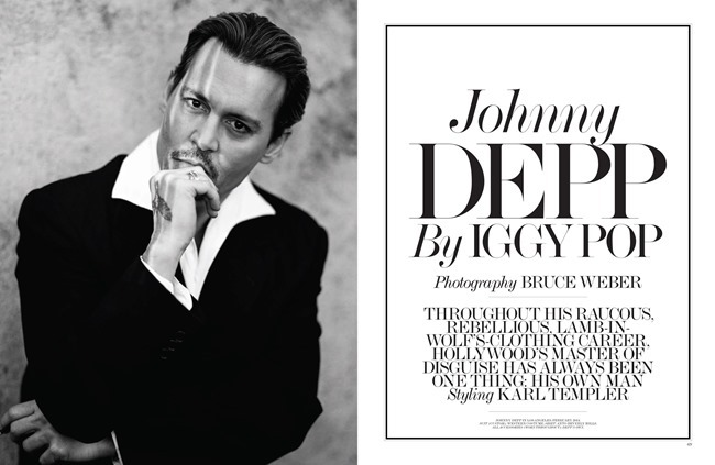 INTERVIEW MAGAZINE Johnny Depp by Bruce Weber. Karl Templer, April 2014, www.imageamplified.com, Image Amplified (1)