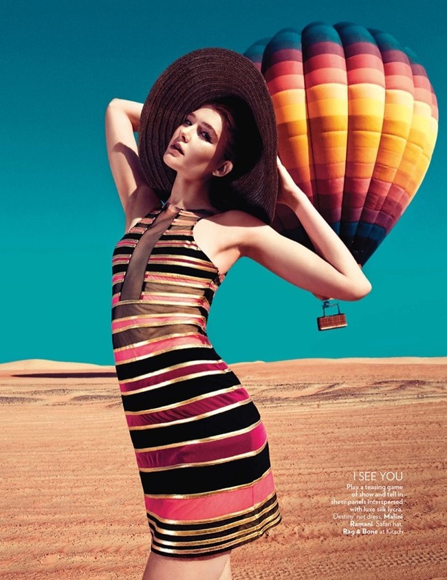 VOGUE INDIA Sarah Pauley in Up, Up & Away by Mazen Abusrour. Spring 2014, www.imageamplified.com, Image Amplified (3)