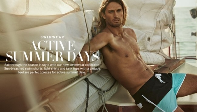 CAMPAIGN Ryan Heavyside & Henrik Fallenius in Active Summer Days for H&M Spring 2014, www.imageamplified.com, Image Amplified (2)