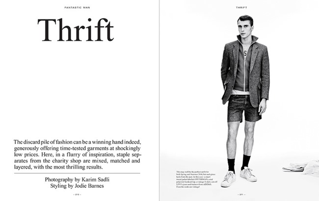 FANTASTIC MAN MAGAZINE Clement Chabernaud in Thrift by Karim Sadli. Jordie Barnes, Spring 2014, www.imageamplified.com, Image Amplified (2)