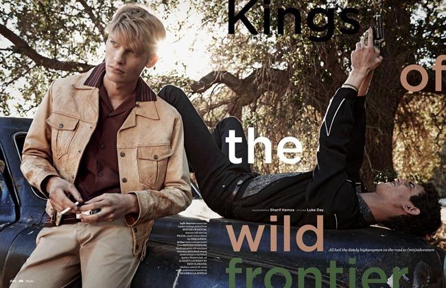 GQ UK Baptiste Radufe & Arthur Gosse in Kings Of The Wild Frontier by Sharif Hamza. Luke Day, Spring 2014, www.imageamplified.com, Image Amplified (5)