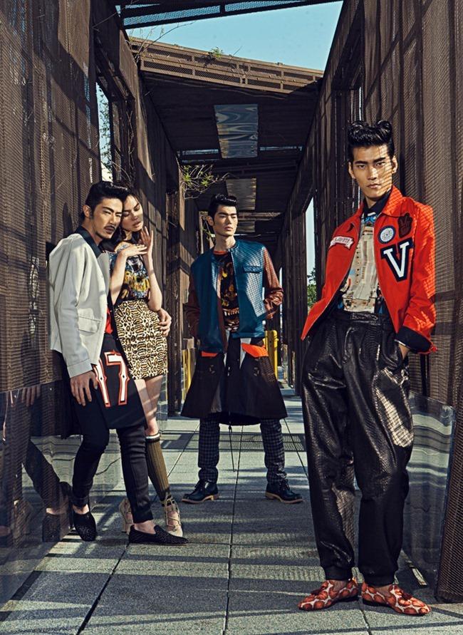 HARPER'S BAZAAR MEN HONG KONG Yang Liu, Wayne Lau, Allen Y & Zhang Xue by Man Tsang, Anson Lau, Spring 2014, www.imageamplified.com, Image Amplified (6)