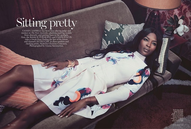 VOGUE AUSTRALIA Naomi Campbell in Sitting Pretty by Emma Summerton. Christine Centenera, May 2014, www.imageamplified.com, Image Amplified (5)