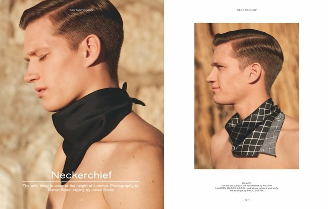 FANTASTIC MAN MAGAZINE Florian Van Bael in Neckerchief by Daniel Riera. Julian Ganio, Spring 2014, www.imageamplified.com, Image Amplified (3)