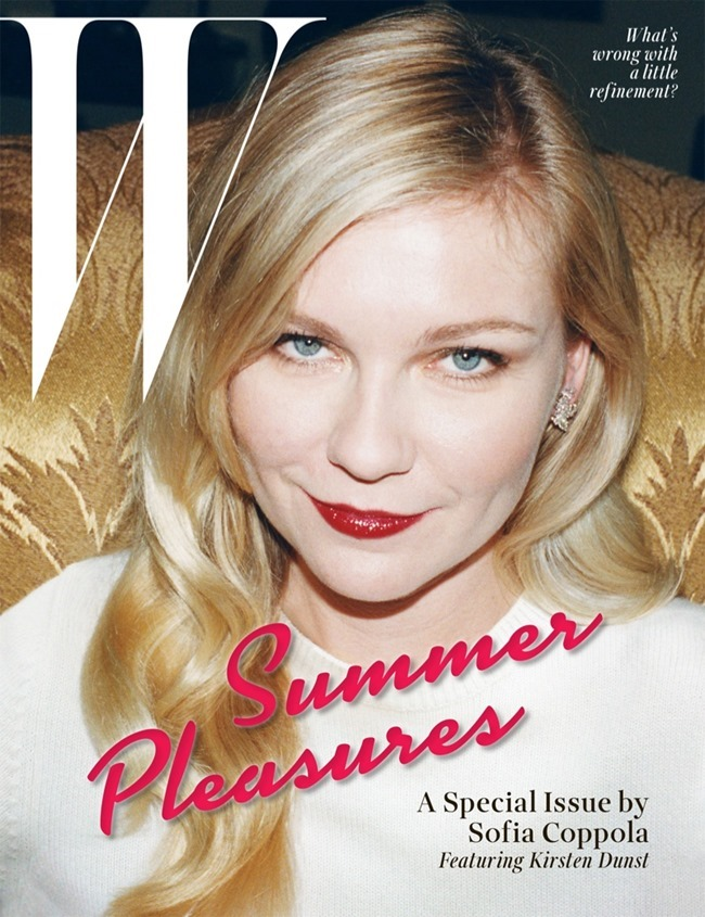 W MAGAZINE Kirsten Dunst in Summer Pleasures by Juergen Teller. May 2014, www.imageamplified.com, Image Amplified (1)