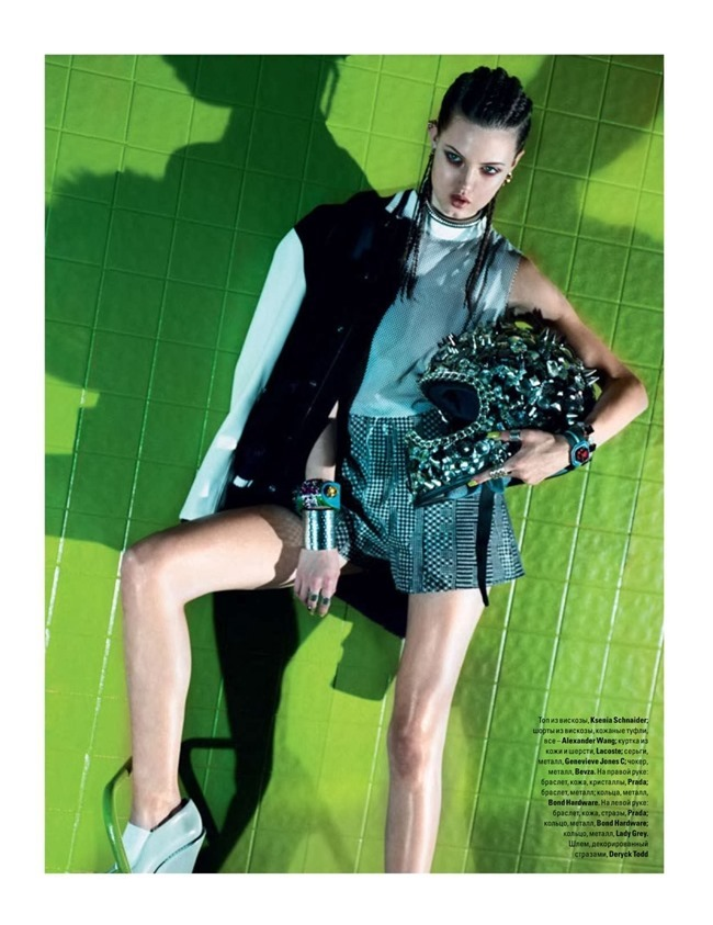 VOGUE UKRAINE Lindsey Wixson in 90's Disco by Jeff Bark. Olga Yanul, May 2014, www.imageamplified.com, Image amplified
