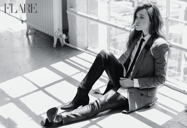 FLARAE MAGAZINE Ellen Page by Nino Munoz. Samantha McMillen, Spring 2014, www.imageamplified.com, Image amplified (2)
