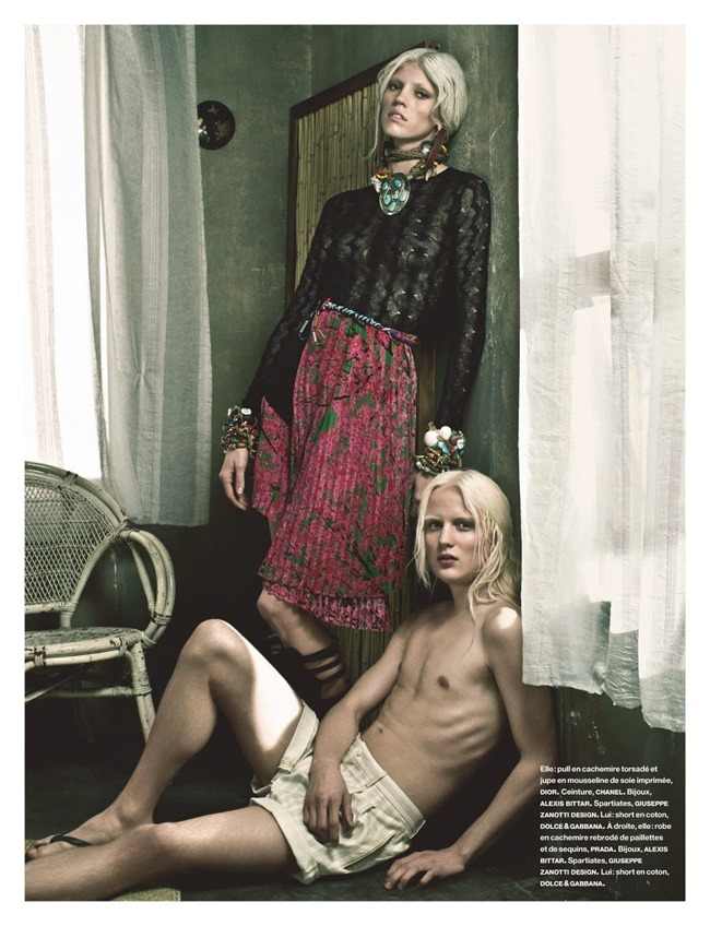 NUMERO MAGAZINE Devon Windsor in Tropique Du Cancer by Victor Demarchelier. Charles Varenne, May 2014, www.imageamplified.com, Image Amplified (3)