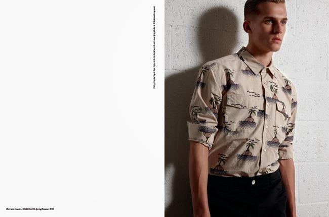 FASHION FOR MEN Jonas Spiegelhalter in Tripics by Milan Vukmirovic. Scarlett Vicquel, Spring 2014, www.imageamplified.com, Image Amplified (1)