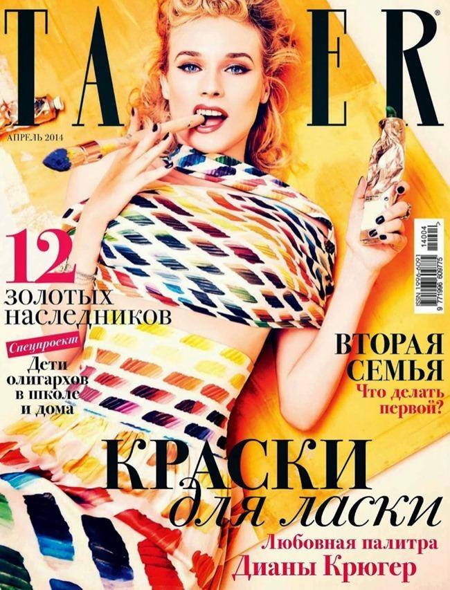 TATLER RUSSIA Diane Kruger by Ellen von Unwerth. Anya Ziourova, April 2014, www.imageamplified.com, Image Amplified (1)