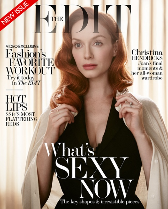 THE EDIT MAGAZINE Christina Hendricks in Mad About The Woman by Yelena Yemchuk. Lawrence Sample, March 2014, www.imageamplified.com, Image Amplified (8)