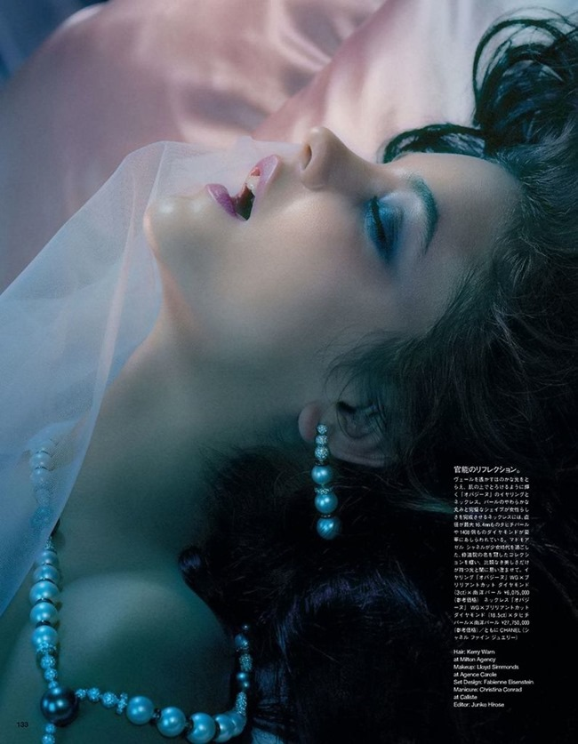 VOGUE JAPAN Barbara Palvin in A Dreaming Lady by Miles Aldridge. Kerry Warn, June 2014, www.imageamplified.com, Image Amplified (4)