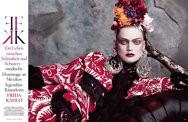 VOGUE GERMANY Guinevere Van Seenus in Frida Kahlo by Luigi   Iango. Patti Wilson, June 2014, www.imageamplified.com, Image amplified (1)